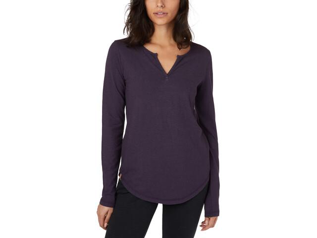 tentree Moraine Maillot à manches longues Femme, aubergine purple